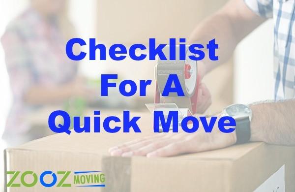 checklist for a quick move